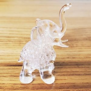 Tiny Elephant, glass blown, hand crafted, jungalow